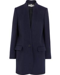 Stella McCartney Bryce Wool Blend Coat Midnight Blue