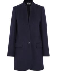 Stella McCartney Bryce Wool Blend Coat Navy