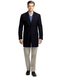 Brooks Brothers Cashmere And Wool Car Coat