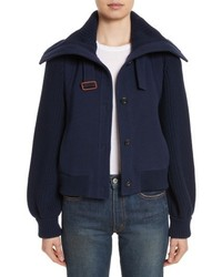 Chloé Chloe Brushed Stretch Wool Coat