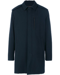 Ermenegildo Zegna Concealed Placket Collar Coat