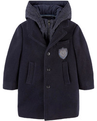 Dolce & Gabbana Wool Coat With A Removable Hooded Vest