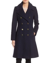 GUESS Fit Flare Military Coat