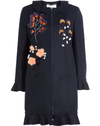 Fendi Fleece Wool Coat With Cashmere
