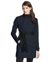 French Connection Inverted Collar Belted Trench Coat