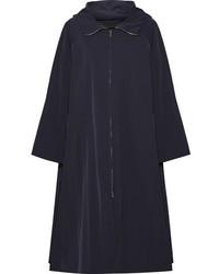The Row Haylen Hooded Shell Coat Midnight Blue