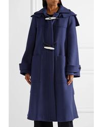 Marni Hooded Wool Coat Indigo