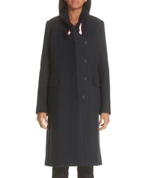 Stella McCartney Knit Collar Wool Coat
