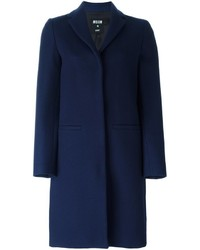 MSGM Single Breasted Mid Length Coat
