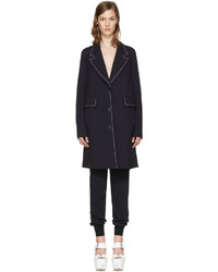 Stella McCartney Navy Wool Fitted Coat