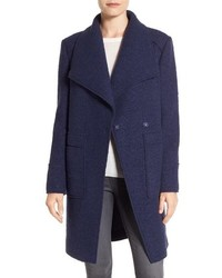 Ellen Tracy Oversize Collar Boucle Coat