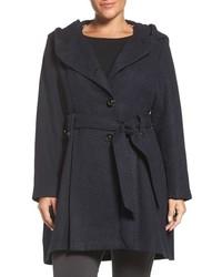 Steve Madden Plus Size Drama Hooded Coat