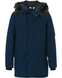 Kenzo Racoon Fur Trim Hooded Coat