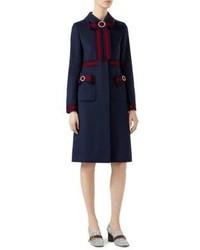 Gucci Ribbon Detail Wool Coat