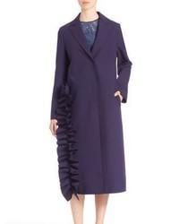 MSGM Ruffle Long Coat