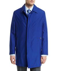 Brioni Silk Blend Car Coat Blue