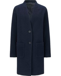 Uniqlo Soft Wool Blend Collarless Coat