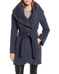 Tahari T Wool Blend Wrap Coat