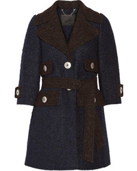 Marc Jacobs Two Tone Llama And Wool Blend Coat