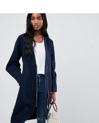 Y.A.S Tall Zip Front Collarless Coat
