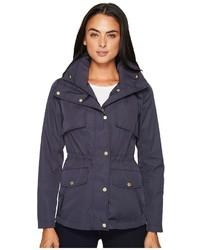 Cole Haan Zip Front Jacket W Placket Snaps Coat
