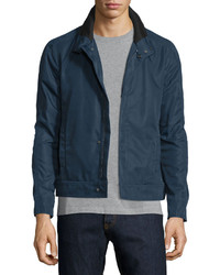 Valentino Zip Front Nylon Coat Navy