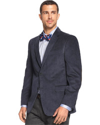 Tommy Hilfiger Solid Trim Fit Corduroy Sport Coat With Elbow Patches
