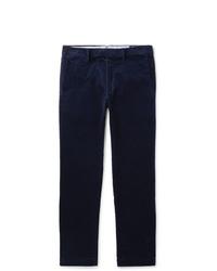 Polo Ralph Lauren Navy Cotton Blend Corduroy Trousers