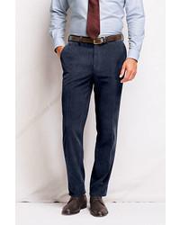 Classic Plain Front Tailored Fit 18 Wale Corduroy Dress Pants Black33