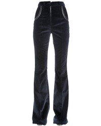 Nina Ricci Flared Stretch Cotton Corduroy Pants