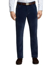 Brooks Brothers Plain Front Blue Five Pocket Corduroy Trousers