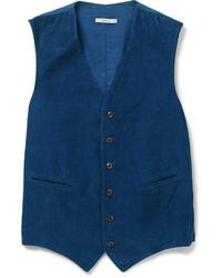 Indigo fine corduroy waistcoat medium 278055