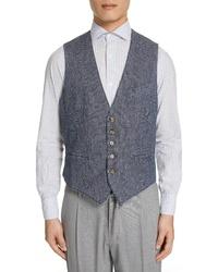 Eleventy Stretch Cotton Corduroy Vest
