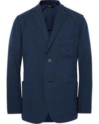 Blue unstructured cotton blazer medium 1149086
