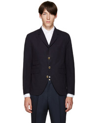 Thom Browne Navy Cotton 5 Button Blazer