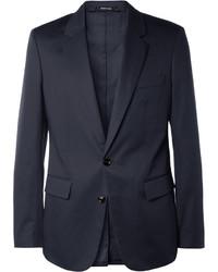 Maison Margiela Navy Cotton Suit Jacket