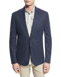 Billy Reid Rustin Textured Cotton Sport Coat Navy