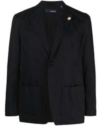 Lardini Single Breasted Cotton Blazer