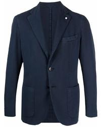 Luigi Bianchi Mantova Single Breasted Cotton Blazer