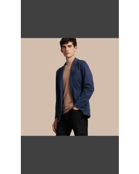 Burberry Slim Fit Cotton Tailored Jacket