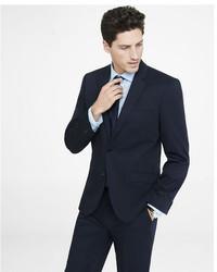 Express Slim Navy Cotton Sateen Suit Jacket