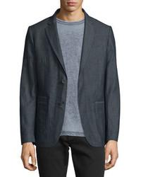 John Varvatos Star Usa Two Button Cotton Blazer Indigo