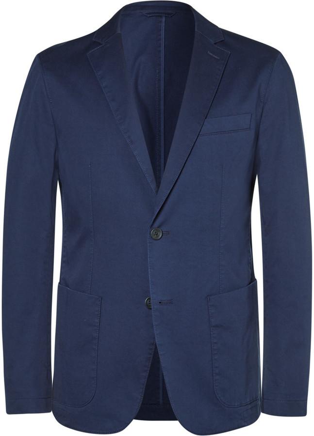 202ff7856 ... Navy Cotton Blazers Hugo Boss Stone Narvik Slim Fit Stretch Cotton  Twill Blazer ...