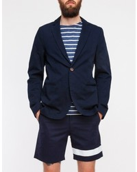 General Assembly Sun Washed Blazer In Navy