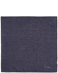Paul Smith Navy Artist Pin Dot Pocket Square