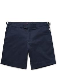 Navy Cotton Shorts