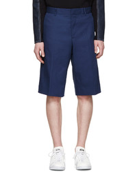 Givenchy Blue Cotton Bermuda Shorts