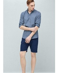 Mango Outlet Structured Cotton Bermuda Shorts
