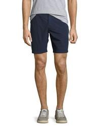 Burberry Tailored Cotton Chino Shorts Indigo