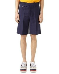 Gucci Washed Cotton Shorts Blue